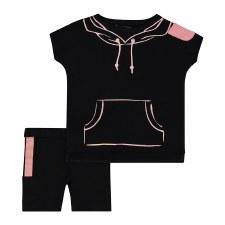Hoodie Print Baby Set Black/Ma