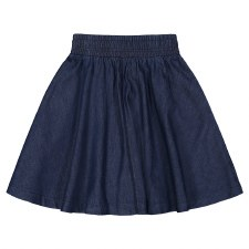 Denim Stitch Skirt Dark 7