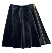 Fur Zipper Skirt Black 8