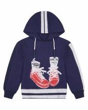 Sneaker Hoodie Top Navy 5