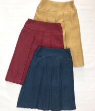 Burlap Skirt Burgundy 12