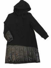 Dress W/ Quilted Trim Black 5