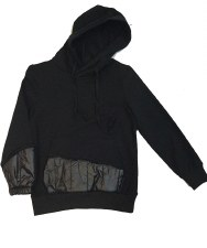 Top W/ Quilted Trim Black 6