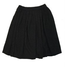 Knit Rib Skirt Black 6