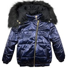Winter coat W/ Fur Hood Blue 4