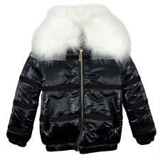 Winter Coat W/ Velvet Stripe B