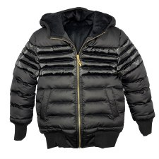 Quilted Winter Coat Black 6