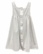 Eyelet Jumper W/ Buttons White