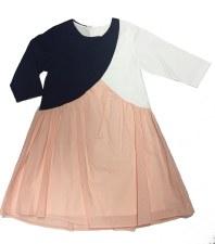 Colorblock Dress Navy/Peach 4