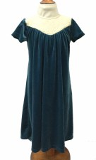 Velour Robe w/ Quilting Teal 2