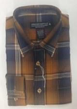 L/S Plaid Shirt Navy 14