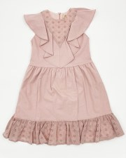 Jumper W/ Eyelet Bottom Ruffle