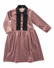 Velvet Dress W/ Ruffles
