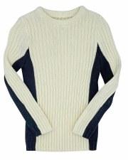 Colorblock Ribbed Sweater Crea