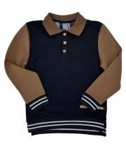 Polo W/ Striped Band Black 4