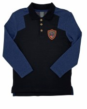 Polo W/ Emblem Blue 6