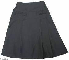 Pleated Skirt W/ Bow Pockets G