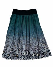Printed Pleated Skirt Forest 8