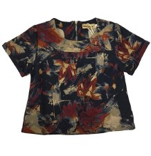 Abstract Floral Top Multi 12