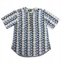 Arrow Print Shirt White/Blue 7