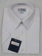 S/S Shirt W/ Designed Lines Wh