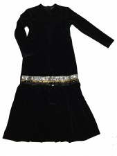 Velour Robe w/ Sequins Black 1