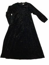 Velour Glitter Robe Black 2