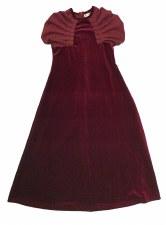 Velour Robe w/ Suede Shoulders