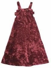 Velour Jumper Robe Burgundy 4