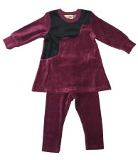 Velour PJ W/ Fur Berry 8