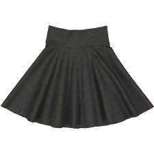Circle Ponte Skirt Charcoal 8