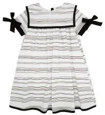 Line Print Dress Black/White 1