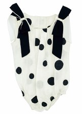 Circles Romper Black/White 9M