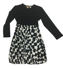 Geometric Dress Black/White 4