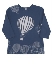 Hot Air Balloon Tshirt Blue 14