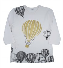Hot Air Balloon Tshirt White 6