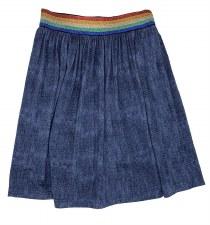 Skirt W/ Rainbow Waist Denim 3