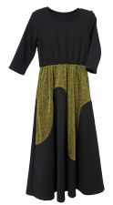 Wavs Metallic Robe Black/Gold