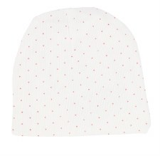Analogie Dot Beanie White/Pink