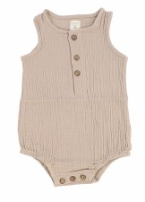 Analogie Gauze Romper Taupe 9M