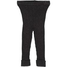 Analogie Rib Knit Leggings Bla
