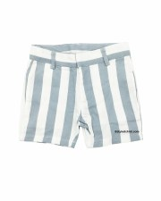 Boys Dress Shorts Blue Stripe