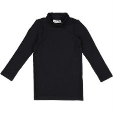 Bamboo Turtleneck Black 5T