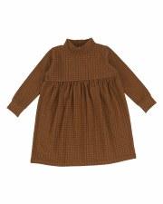 Checked Dress Caramel 3T