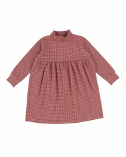 Checked Dress Rose 5T