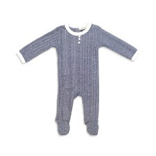 Marled Ribbed Stretchie Blue 1