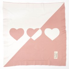 Knit Blanket Pink/White