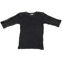 Ribbed Denim Tshirt Grey 16