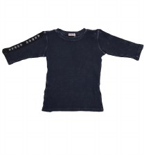 Ribbed Denim Tshirt Blue 10