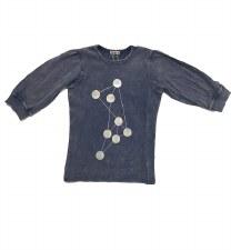 Ribbed Denim Dot Tshirt Light